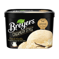 Breyers Creamery Style French Vanilla 1.66 L front of pack