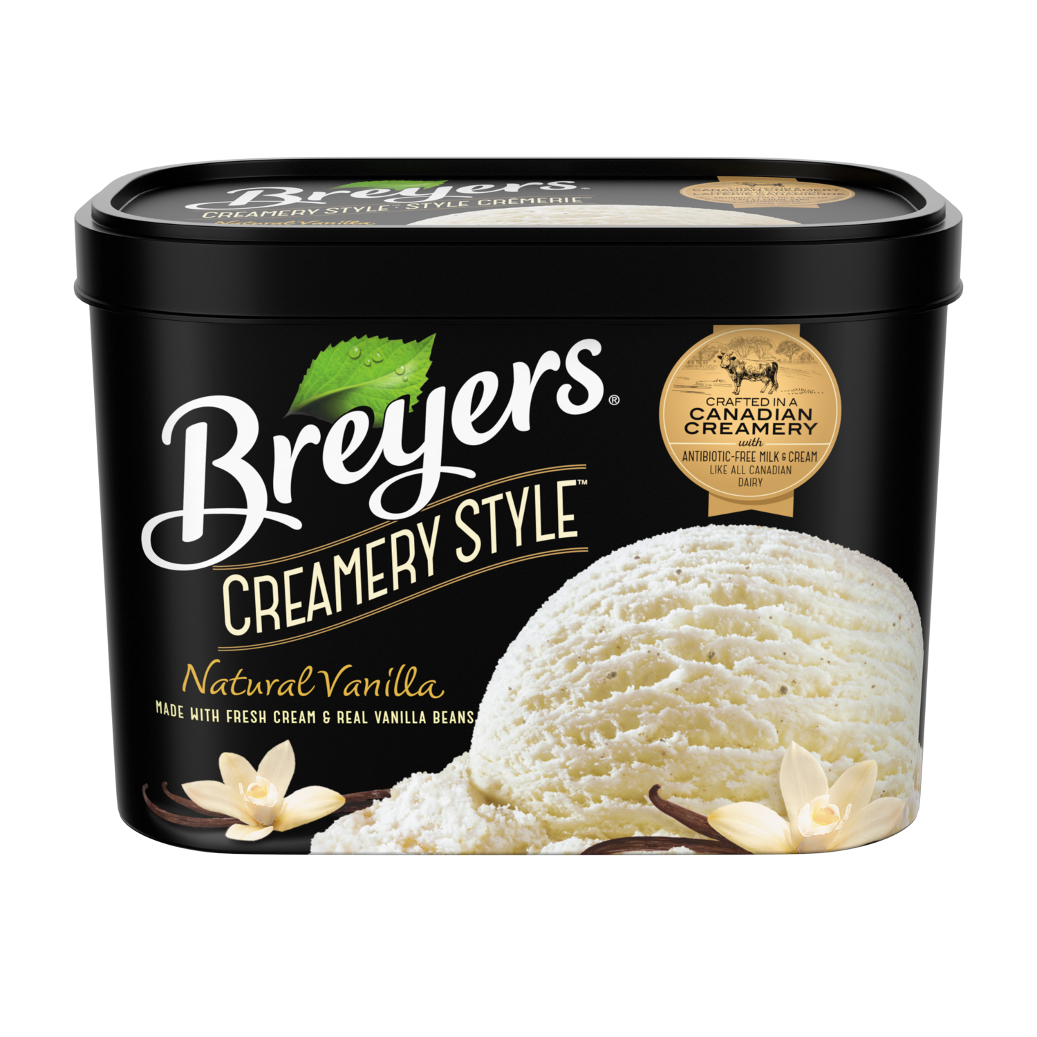 Breyers Creamery Style Natural Vanilla 1.66 L front of pack