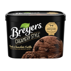 Breyers Creamery Style Dark Chocolate Truffle 1.66 L front of pack