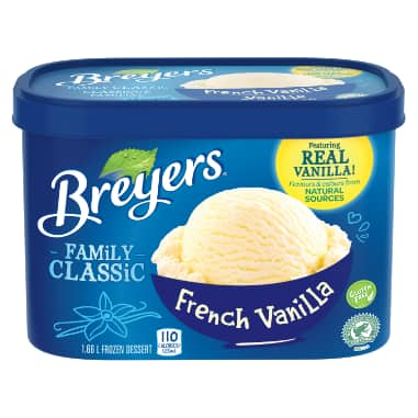Breyers Family Classic French Vanilla Frozen Dessert 1.66 LT