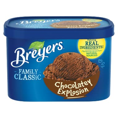 Breyers Family Classic Chocolate Explosion Frozen Dessert 1.66 LT