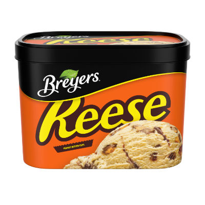 Breyers® REESE Peanut Butter Cups 1.66 L front of pack