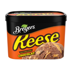 Breyers®  REESE Chocolate 1.66 L front of pack and back of pack