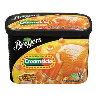 Breyers Creamscicle Sherbet Orange & Creamy Vanillalla 1.66 LT
