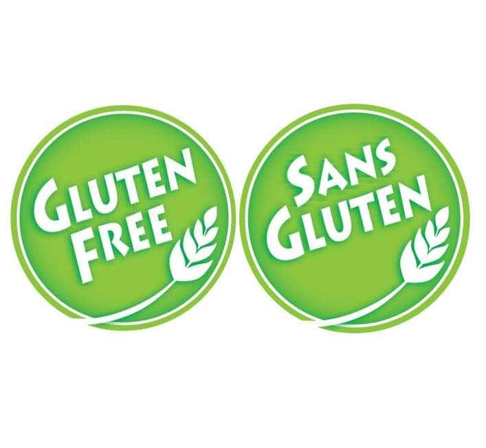French and English Gluten Free logos