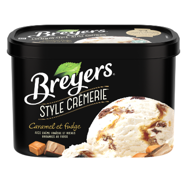 Breyers Creamery Style Caramel and Fudge 1.66 LT