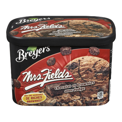 Breyers® Mrs. Fields® Chocolate Fudge Brownie 1.66 L front of pack