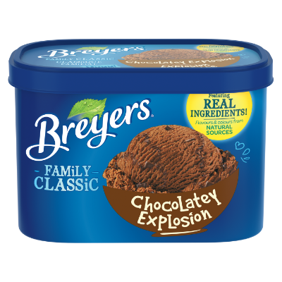 Breyers Classic Chocolatey Explosion 1.66 L front of pack