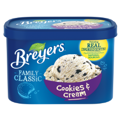Breyers Classic Cookies & Cream 1.66 L front of pack