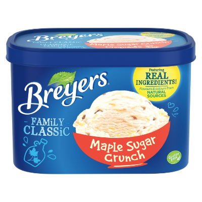 Breyers Classic Maple Sugar Crunch 1.66 L front of pack