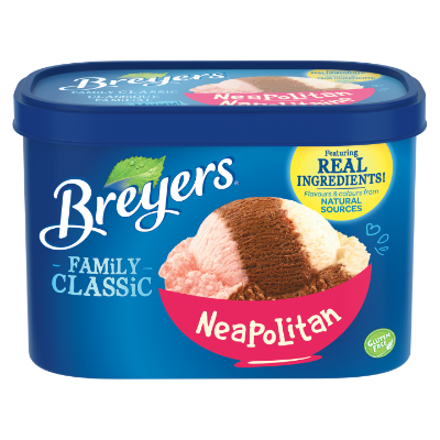 Breyers Classic Neopolitan 1.66 L front of pack
