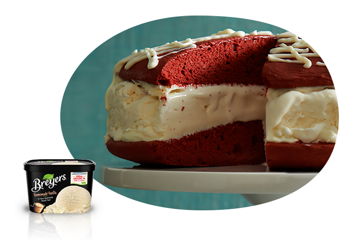 Red Velvet Ice Cream Cake Recipe
