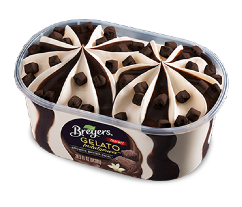Breyers Gelato Brownie Batter Swirl Frozen Dessert 842 ML