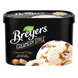 Breyers Creamery Style Caramel Fudge 1.66 L front of pack