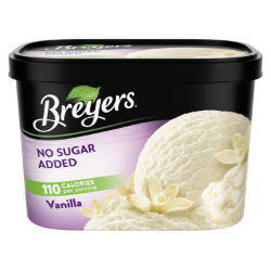 A 48 ounce tub of Breyers® No Sugar Added Vanilla simple pack image