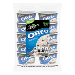 [A 10 count bag of 3 ounce cups of Breyers® OREO® Snack Cups front of pack, A 10 count bag of 3 ounce cups tub of Breyers® OREO® Snack Cups simple pack image, A 10 count bag of 3 ounce cups tub of Breyers® OREO® Snack Cups back of pack, A 10 count bag of 3 ounce cups tub of Breyers® OREO® Snack Cups Nutritional Panel, A 10 count bag of 3 ounce cups tub of Breyers® OREO® Snack Cups  Ingredient List, A 10 count bag of 3 ounce cups tub of Breyers® OREO® Snack Cups barcode, Great for Parties, Breyers® pledge statement]