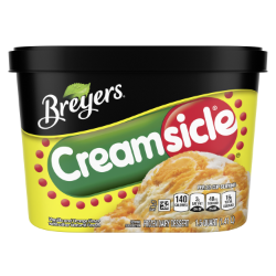 A 48 ounce tub of Breyers® Creamsicle back of pack