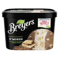 A 48 ounce tub of Breyers® Layered Dessert S'mores simple pack image