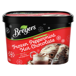 A 48 ounce tub of Breyers® Frozen Peppermint Hot Chocolate simple pack image