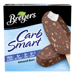 A 6 pack carton of Breyers® CarbSmart™ Almond Bar simple pack image