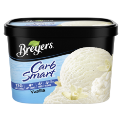 A 48 ounce tub of Breyers® CarbSmart™ Vanilla simple pack image