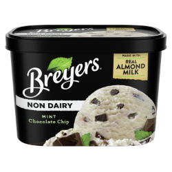 A 48 ounce tub of Breyers® Non-Dairy Mint Chocolate Chip simple pack image