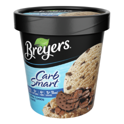 A 16 ounce tub of Breyers® CarbSmart™ Coffee Cookie Crunch simple pack image