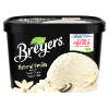 A 48 ounce tub of Breyers® Natural Vanilla front of pack
