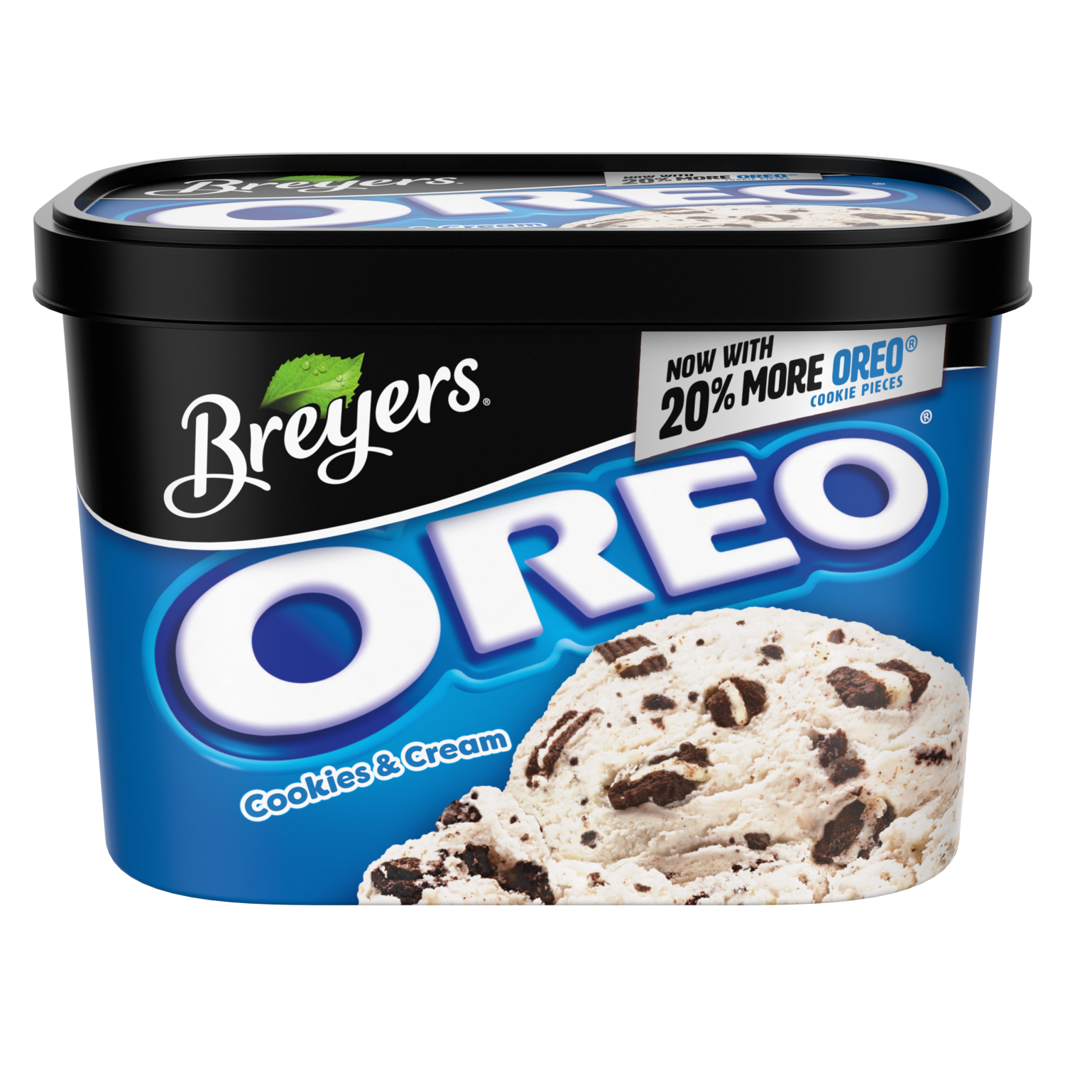 Breyers Blasts Light Ice Cream OREO Cookies and Cream 48 oz
