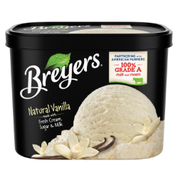 A 64 ounce tub of Breyers® Natural Vanilla simple pack image