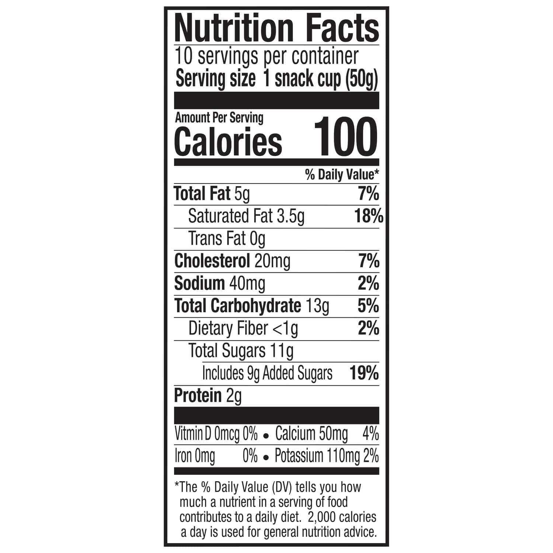 Breyers Ice Cream Nutrition Facts Label