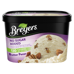 A 48 ounce tub of Breyers® No Sugar Added Butter Pecan simple pack image