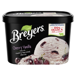 A 48 ounce tub of Breyers® Cherry Vanilla simple pack image