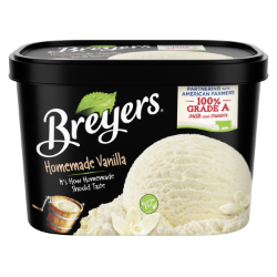 A 48 ounce tub of Breyers® Homemade Vanilla simple pack image