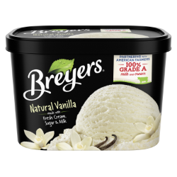 A 48 ounce tub of Breyers® Natural Vanilla simple pack image