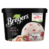A 48 ounce tub of Breyers® Natural Strawberry front of pack