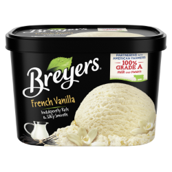 A 48 ounce tub of Breyers® French Vanilla simple pack image