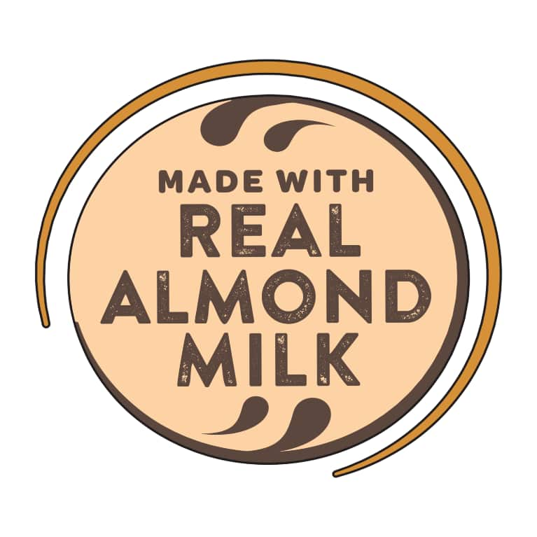 Made with Real Almond Milk logo