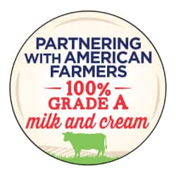 100% Grade A Milk and Cream button