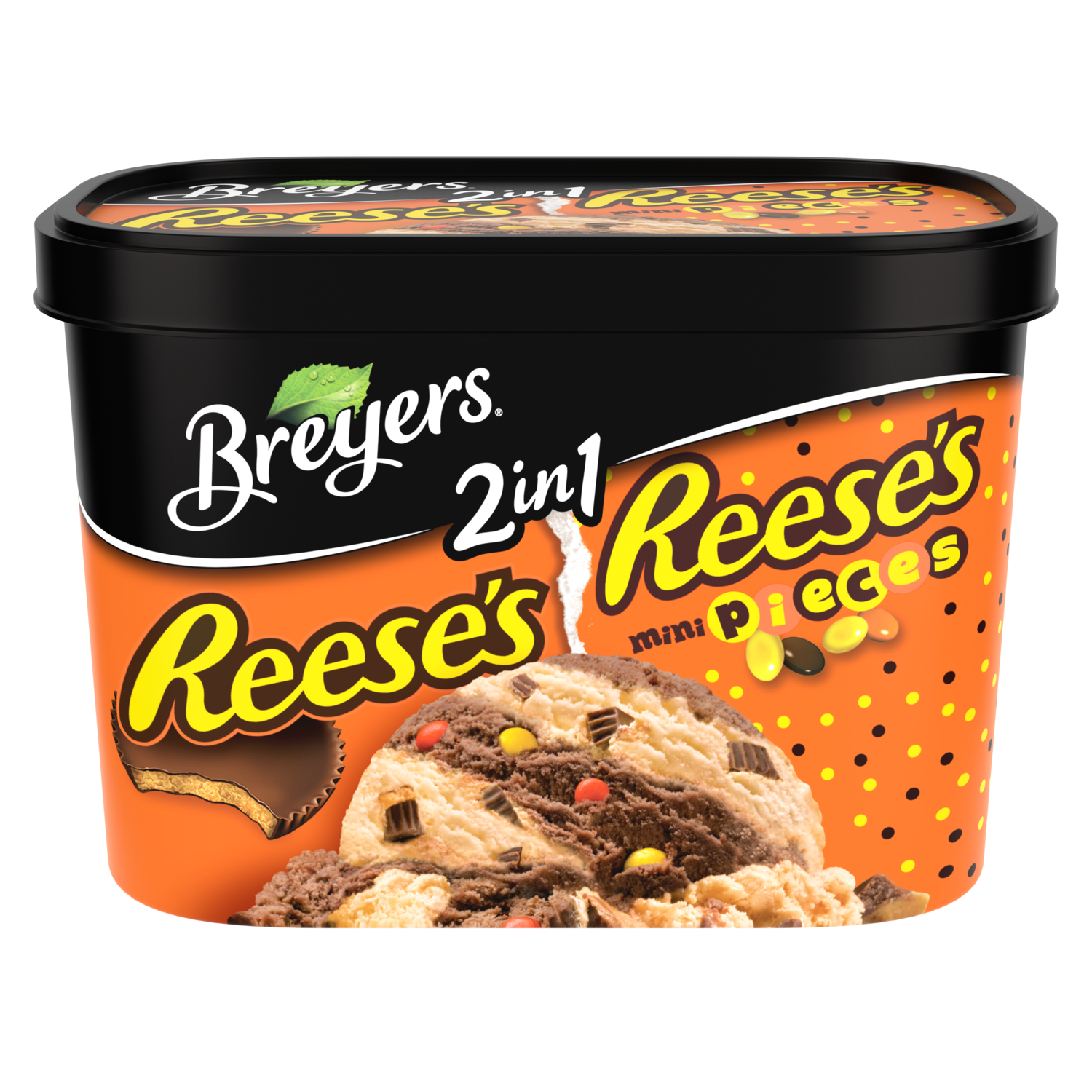 Breyers  Frozen Dairy Dessert 2in1 REESE'S REESE'S PIECES 1.5 QT